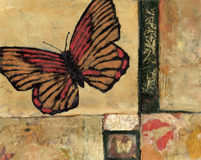 Butterfly in Red Prints by Judi Bagnato