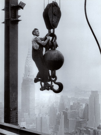 Construction Worker on the Empire State Building Prints
