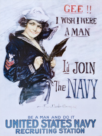 Gee!! I Wish I Were a Man, c.1918 Kunsttrykk