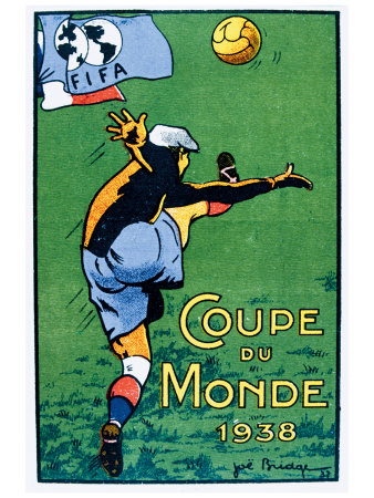 Coupe du Monde, 1938 Giclee Print by Joe Bridge