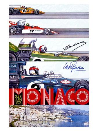 Monaco Grand Prix F1 Race, c.1973 Giclee Print