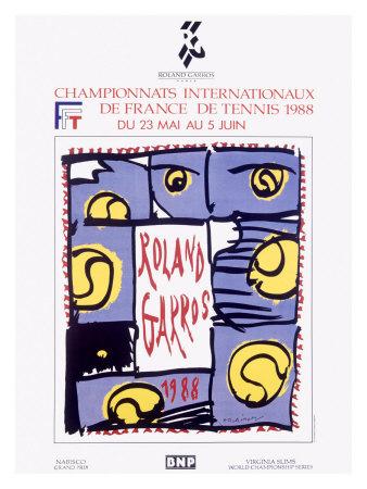 Roland Garro Tennis Championship Giclee Print