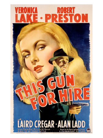 Veronica Lake in This Gun for Hire Giclee Print