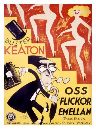 Buster Keaton, Speak Easily Giclee Print