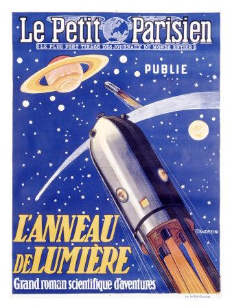 Rocketship to Saturn Giclee Print