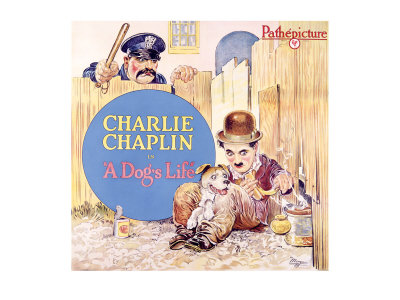 Charlie Chaplin, Dog's Life Giclee Print