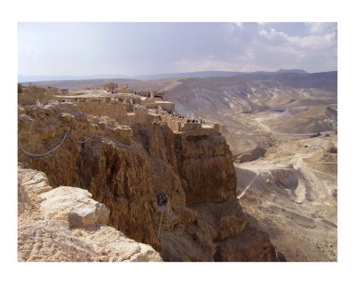 View from atop Masada - Dead Sea area, Israel Fotografie-Druck