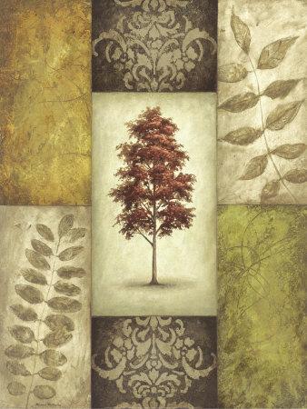 Red Magnolia Tree Prints by Michael Mathews