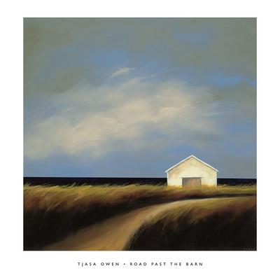 Road Past the Barn Prints by Tjasa Owen