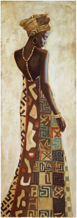 Femme Africaine III Plakater af Jacques Leconte