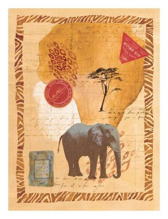 Travel Elephant Prints by Fernando Leal