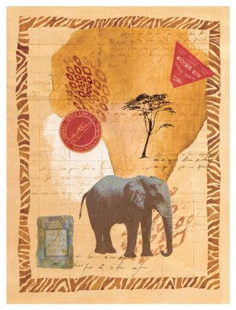 Travel Elephant Poster by Fernando Leal