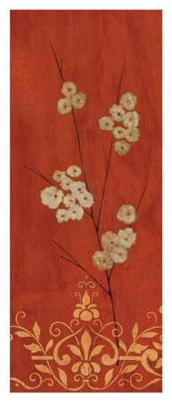 Sienna Flowers II Print by Fernando Leal