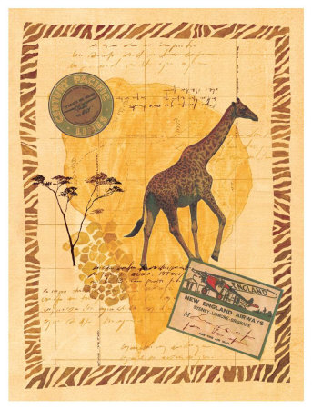 Travel Giraffe Prints by Fernando Leal