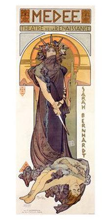 Medee, Sarah Bernhardt Giclee Print by Alphonse Mucha