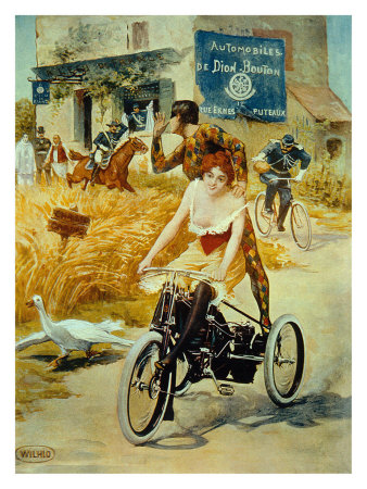 Michelin, Tricycle Tire reproduction procédé giclée
