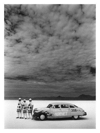 Hudson Hornet, Salt Flat Racer Giclee Print by David Perry