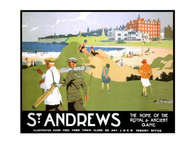 LNER, St. Andrews, c.1920 Giclee Print by Henry George Gawthorn