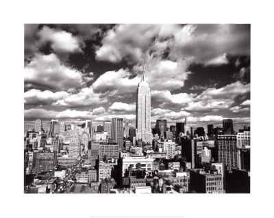 New York, New York, Sky Over Manhattan Art Print