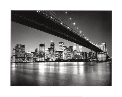 New York, New York, Manhattan Skyline Print by Henri Silberman