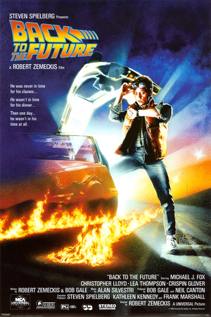 Back to the Future movie poster cover art