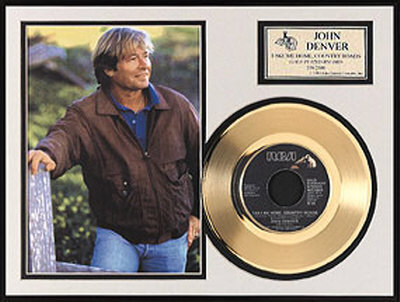John Denver Framed Memorabilia