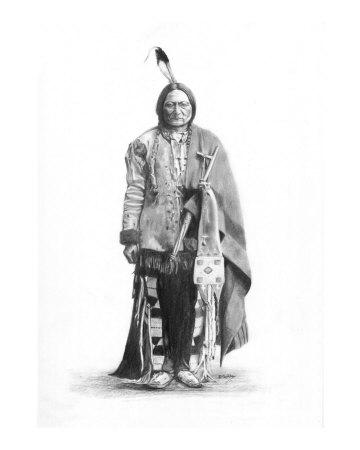 Chief Sitting Bull Giclee Print by David Carlile