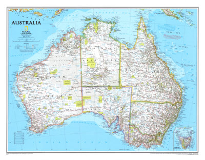 political map of australia with cities. Australia Political Map Art