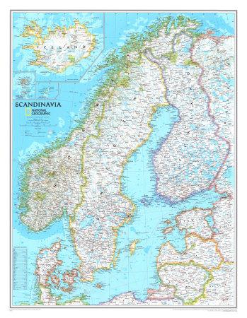 Map of Scandinavia Print