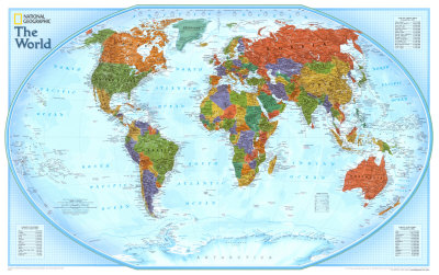 World Explorer Map Art Print