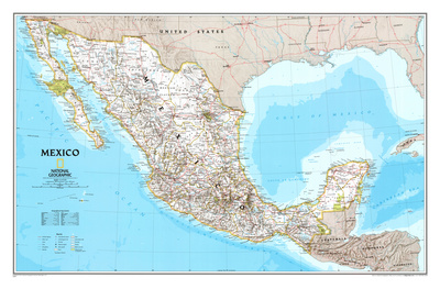 Map of Mexico Plakater