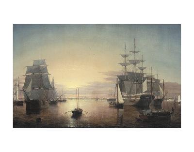 Boston Harbor, c.1855 Posters by Fitz Hugh Lane