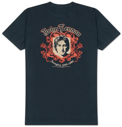 John Lennon - Crest - B Side Reverse Tee T-Shirt