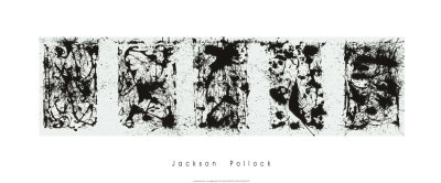 Black and White Polyptych Serigraph by Jackson Pollock