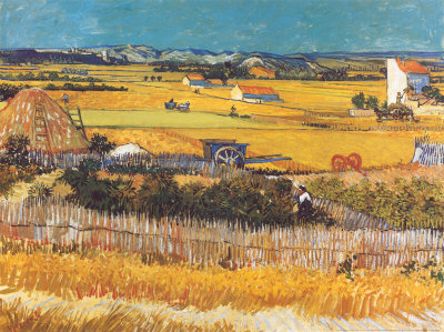Harvest at Arles, c.1888 Art Print