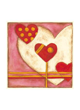 Pop Hearts IV Print by Nancy Slocum