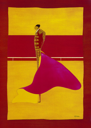 Bullfighter with Cape I Art Print