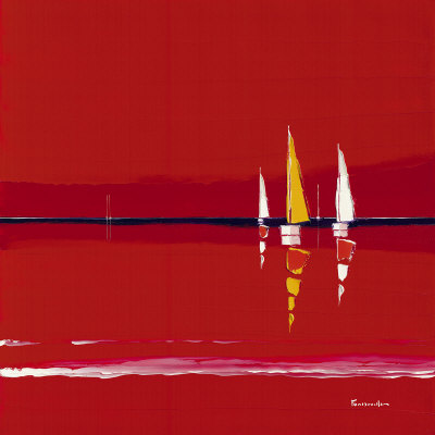 Red Hour Print by Guy Fontdeville
