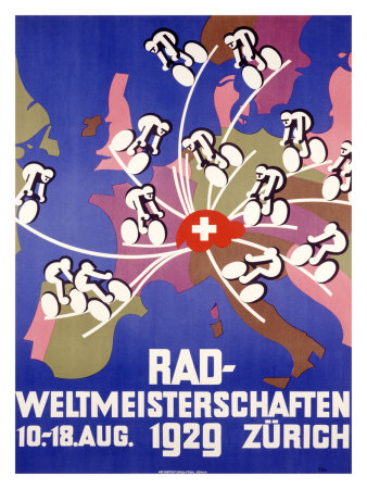 Rad-Weltmeisterschaften Bicycle Race Giclee Print