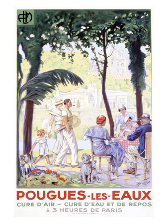 Pougues-les-Eaux Giclee Print by F. Jonas