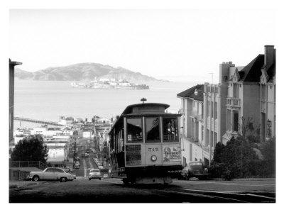San Francisco, Cable Car, Alcatraz Giclee Print