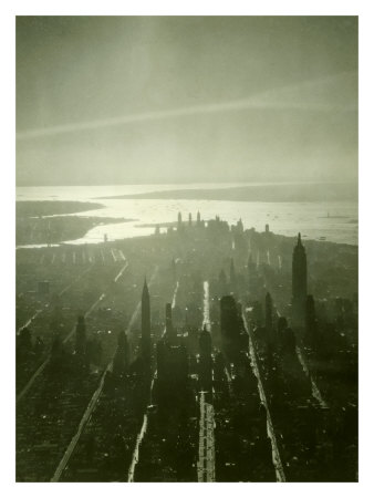 New York City Skyline Giclee Print