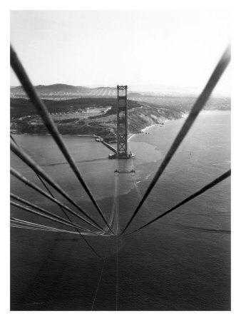 Construction of the Golden Gate Bridge Giclee Print
