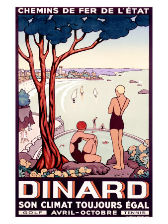 French State Railway, Travel to Dinard Giclee Print