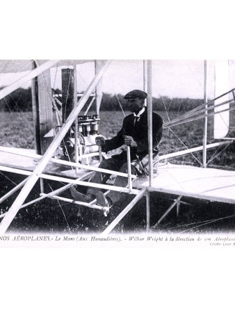 Orville Wright Biplane Giclee Print