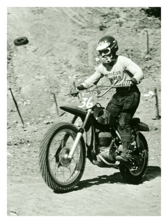 Bultaco Pursang Motorcycle MX Giclee Print