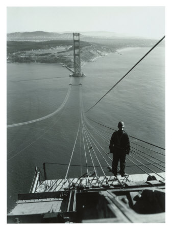 San Francisco, Golden Gate Bridge Construction Giclee Print