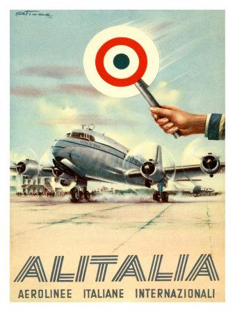 Alitalia, Aerolinee Italiane Internazionali Giclee Print