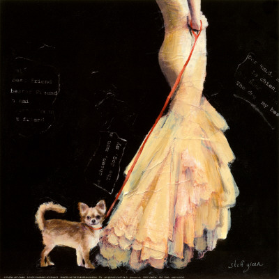 Lady and Dog Art Print