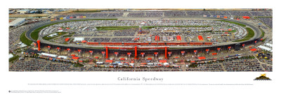 California Speedway Reproduction d'art
